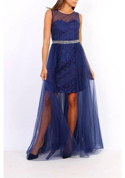 Damen Abendkleid mit Spitze und Tüllrock 9183