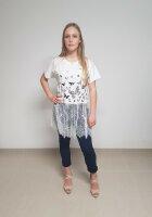 Tunika mit Spitze am Saum RJ71080 mit glitzerndem Schmetterling Print