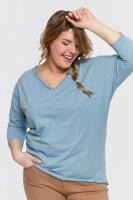 Damen Plus Size Basic Shirt mit 3/4 Ärmeln