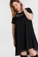 Kleid Plus Size Vokuhila Kurzarm
