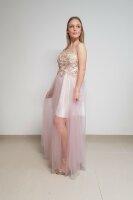 Bodenlanges Abendkleid mit einem Tüllrock 9193