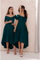 Damen schulterfreies Abendkleid mit Ärmeln,...